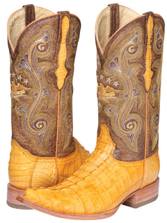 COWBOY BOOT EL GENERAL 6756-R CAIMAN SKIN BUTTERCUP