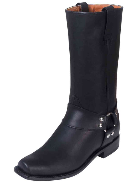 BIKER BOOT RODEO BRAVO 20506 OILED LEATHER BLACK