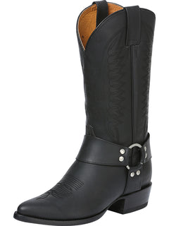 COWBOY BOOT RODEO BRAVO 70506-A OILED LEATHER BLACK