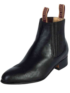 ANKLE BOOT LA BARCA LB 300 PASO DE MULA LEATHER BLACK