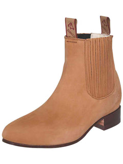 ANKLE BOOT EL CANELO 1 NUBUCK LEATHER CAMEL
