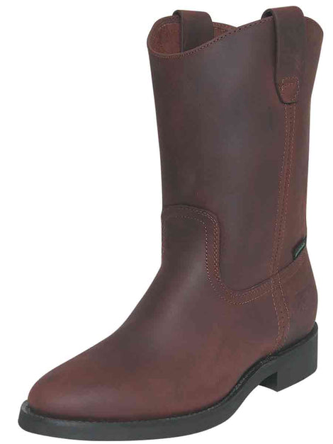 WORK BOOT ESTABLO 512-05 OILED LEATHER BROWN