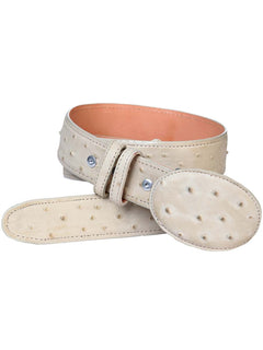 COWBOY BELT EL GENERAL IAH IMITATION OSTRICH LEATHER BONE
