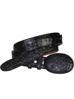 COWBOY BELT EL GENERAL 002 CAIMAN SKIN BLACK
