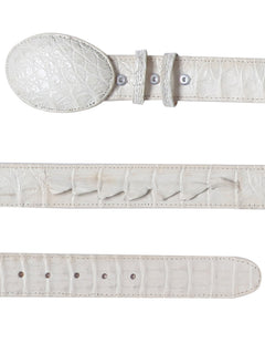 COWBOY BELT EL GENERAL 004 CAIMAN SKIN BONE