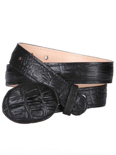 COWBOY BELT EL GENERAL DAMA IMITATION CAIMAN LEATHER BLACK