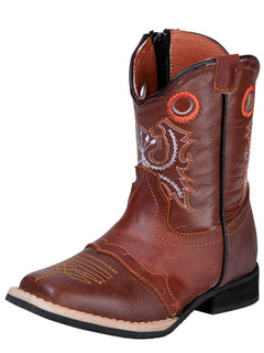 SQUARE TOE BOOT EL GENERAL 065 CRAZY HORSE LEATHER BROWN