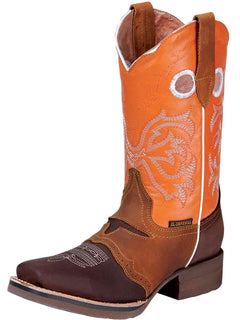 SQUARE TOE BOOT EL GENERAL 366 CRAZY HORSE LEATHER BROWN