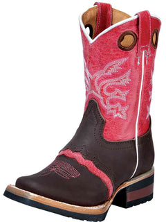 SQUARE TOE BOOT EL GENERAL MZD167 CRAZY HORSE LEATHER CIGAR