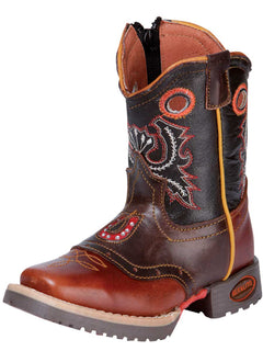 SQUARE TOE BOOT EL GENERAL 064 OILED LEATHER BROWN