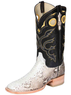 SQUARE TOE BOOT EL GENERAL BHT-PYT1 PYTHON SKIN NATURAL