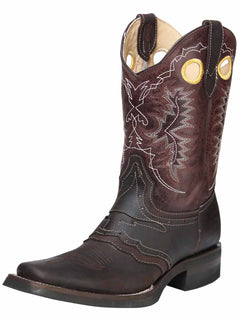 SQUARE TOE BOOT EL GENERAL ROD-10-CCCC-5+05136CFTLI-5850 CRAZY HORSE LEATHER CHOCO