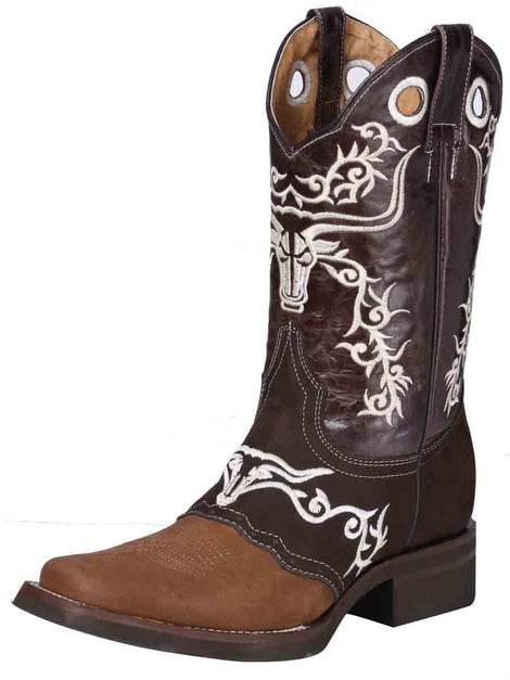 SQUARE TOE BOOT EL GENERAL ROD-10-CCCC-3+05140CFTLI-5850 CRAZY HORSE LEATHER CAMEL