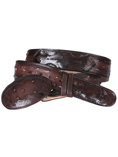 COWBOY BELT EDICION LIMITADA EL GENERAL EDL-IMIT-12-CA IMITATION OSTRICH LEATHER TOBACCO