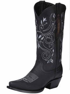 COWBOY BOOT EDICION LIMITADA EL GENERAL EDL-RD-7+05149NETLI-5850 CRAZY HORSE LEATHER BLACK