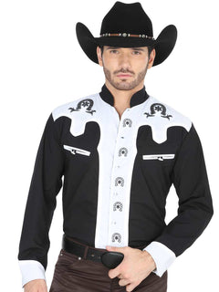 CHARRO SHIRT EL GENERAL CVAP1022 65% POLYESTER35% COTTON BLACK