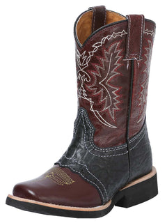 SQUARE TOE BOOT EL GENERAL R-NIÑ-03 CRAZY HORSE LEATHER VINO