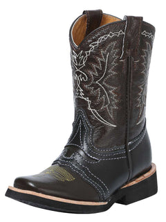 SQUARE TOE BOOT EL GENERAL R-NIÑ-04 CRAZY HORSE LEATHER BROWN