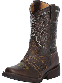 SQUARE TOE BOOT EL GENERAL R-NIÑ-09 CRAZY HORSE LEATHER CHOCO