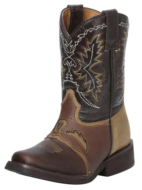 SQUARE TOE BOOT EL GENERAL R-NIÑ-11 CRAZY HORSE LEATHER CHOCO