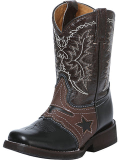 SQUARE TOE BOOT EL GENERAL R-NIÑ-16 CRAZY HORSE LEATHER BLACK