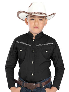 CHARRO SHIRT EL GENERAL MCHN8 65% POLYESTER35% COTTON BLACK