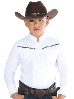 CHARRO SHIRT EL GENERAL MCHN8 65% POLYESTER35% COTTON WHITE