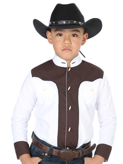 CHARRO SHIRT EL GENERAL MCHN10 65% POLYESTER35% COTTON WHITE