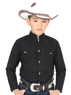 CHARRO SHIRT EL GENERAL MCHN11 65% POLYESTER35% COTTON BLACK