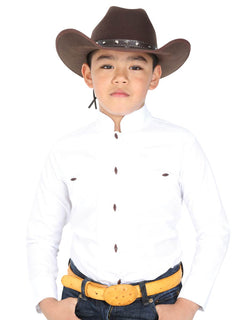 CHARRO SHIRT EL GENERAL MCHN11 65% POLYESTER35% COTTON WHITE