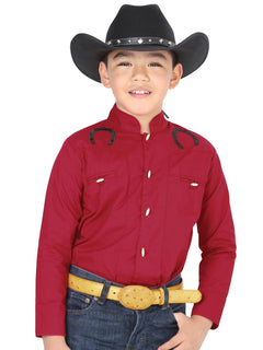 CHARRO SHIRT EL GENERAL MCHN12 65% POLYESTER35% COTTON RED