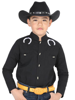 CHARRO SHIRT EL GENERAL MCHN12 65% POLYESTER35% COTTON BLACK