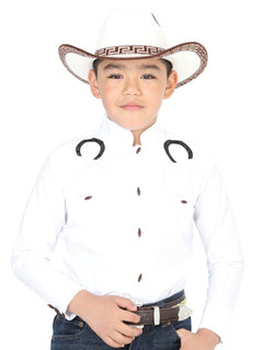 CHARRO SHIRT EL GENERAL MCHN12 65% POLYESTER35% COTTON WHITE