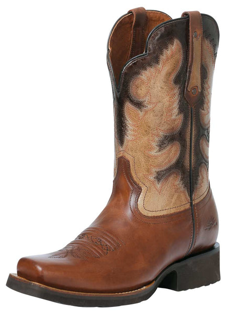 SQUARE TOE BOOT RIO GRANDE RYAN H-59 SARAPE BROWN