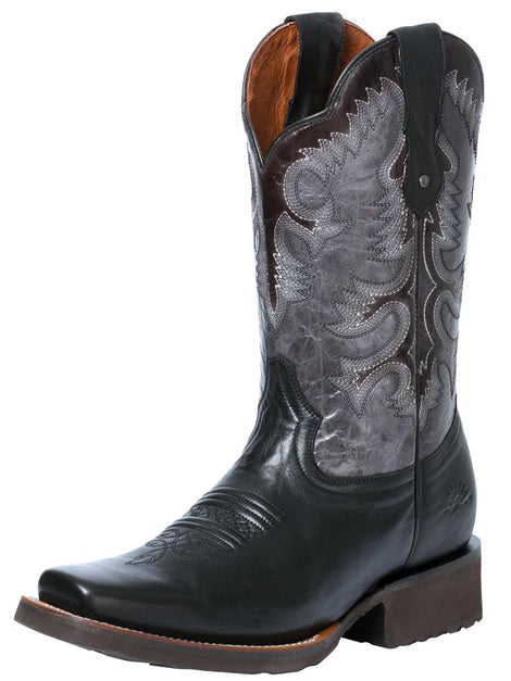 SQUARE TOE BOOT RIO GRANDE VIRGINIA LIGA BLACK