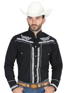 CHARRO SHIRT EL GENERAL CHC060 65% POLYESTER35% COTTON BLACK