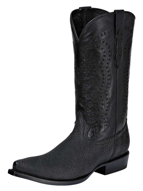 COWBOY BOOT EDICION LIMITADA EL GENERAL VAQ-CT-02 BULL SHOULDER LEATHER BLACK
