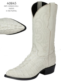 COWBOY BOOT EL SENOR DE LOS CIELOS IMIT-SR-11 IMITATION CAIMAN LEATHER BONE