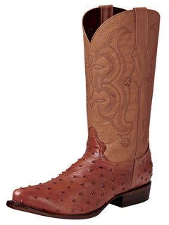 COWBOY BOOT EL SENOR DE LOS CIELOS IMIT-SR-13 IMITATION OSTRICH LEATHER COGNAC