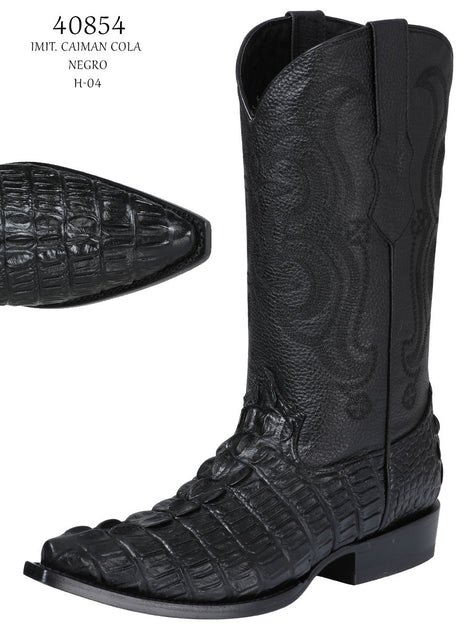 COWBOY BOOT EL SENOR DE LOS CIELOS IMIT-SR-20 IMITATION CAIMAN LEATHER BLACK