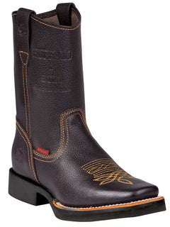 SQUARE TOE BOOT BUFFALO & BULL 1070 FLOTTER LEATHER BROWN