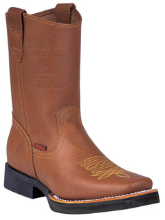 SQUARE TOE BOOT BUFFALO & BULL 1070 FLOTTER LEATHER HONEY