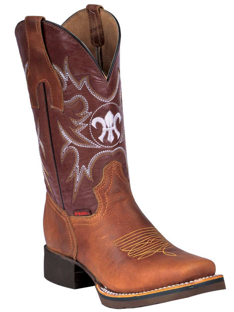 SQUARE TOE BOOT BUFFALO & BULL 330 CRAZY HORSE LEATHER HONEY