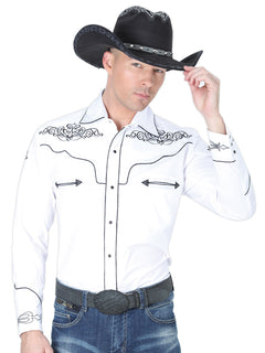 CHARRO SHIRT EL GENERAL MCH-02-03 65% POLYESTER35% COTTON WHITE