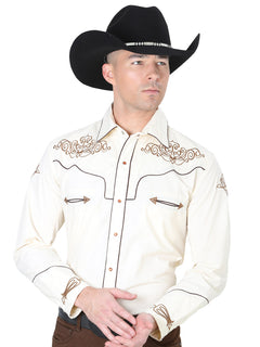 CHARRO SHIRT EL GENERAL MCH-02-03 65% POLYESTER35% COTTON BEIGE