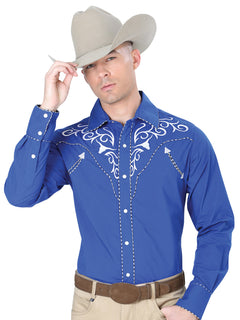CHARRO SHIRT EL GENERAL MCH-02-10 65% POLYESTER35% COTTON BLUE