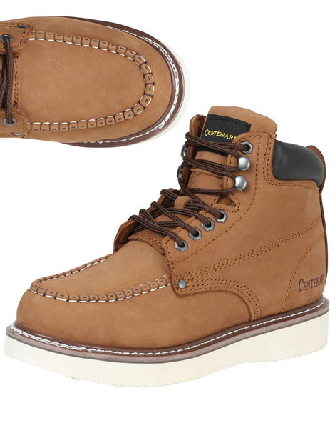 ANKLE BOOT CENTENARIO BC-G002 NUBUCK LEATHER BROWN