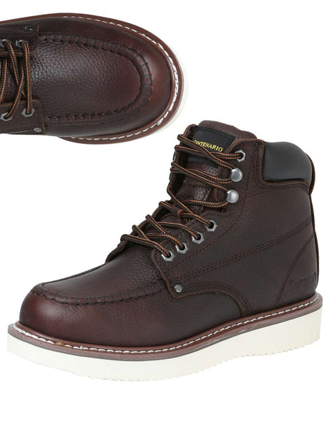 ANKLE BOOT CENTENARIO BC-G002 LEATHER CHOCO