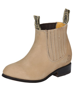 ANKLE BOOT EL CANELO BTN1 NUBUCK LEATHER SAND
