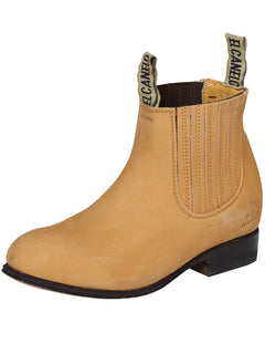 ANKLE BOOT EL CANELO BTN1 NUBUCK LEATHER HONEY